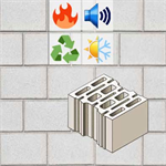 thermoacustic wall in concrete masonry unit BIODÄMM 30 BTF 50/80 EI240'