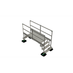bridge 2 step  with railing 2mtr 1000x1000x2000   yeti rooftop walkway and stepover