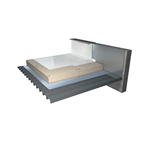 synthetic waterproofing system for inaccessible flat roofs (cool roof)