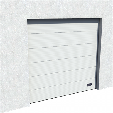 industrial micro grooved door ral 9006 normal and high lift