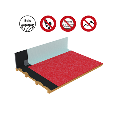 Systems for non-accessible roof self-protected timber panels