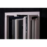 Wood aluminium door-window opening inside 2