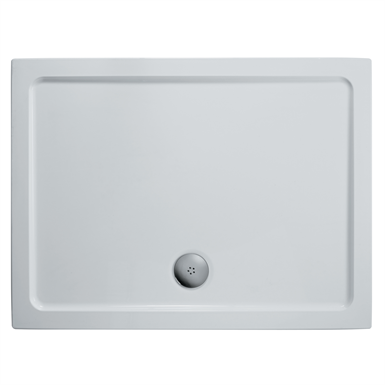 idealite flat top shower tray, 900x760mm & cp waste