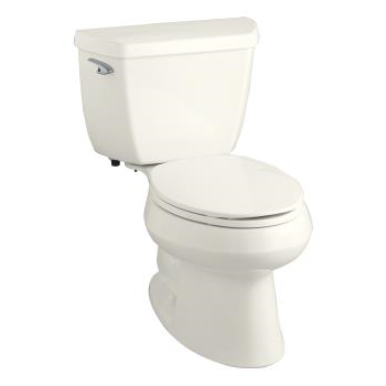 k-3575 wellworth® classic 1.28 gpf elongated toilet with class five® flushing technology and left-hand trip lever