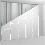 sw75/120; ei90; 35db; austria; shaft wall with single metal stud frame, triple layer cladding