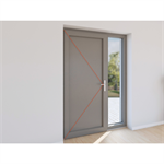 double entrance door pvc