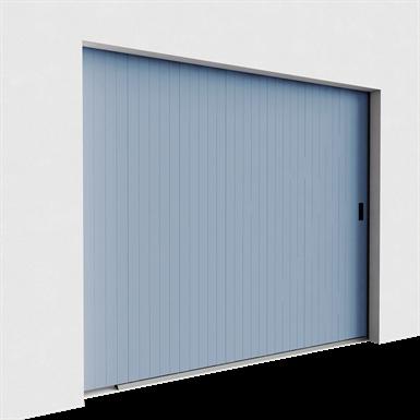 porte de garage veinée bois rainurée déplacement latéral