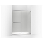 """revel sliding shower door, 70"""" h x 56-5/8 - 59-5/8"""" w, with 5/16"""" thick frosted glass"""