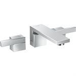 AXOR Edge 3-hole basin mixer for concealed installation wall-mounted with spout 190 mm - diamond cut 46061000