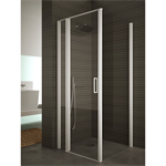 Egipthia - Sethy - Combinated Angle Configuration - 1 fixed segment + 1 pivot door at 180º + side panel (90º) for shower