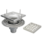 Adjustable Floor Drain with 12in. x 12in. Square Top, Small Sump - BFD-140