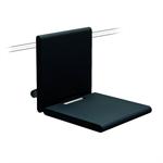 cavere chrome suspendable shower seat 380x563x340