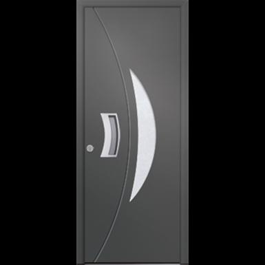 porte d'entrée en aluminium passage – modèle silice 1