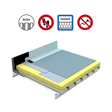 Systems for non-accessible insulated roof self-protected plain Parasteel
