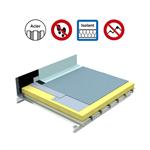 systèmes pour toiture innaccessibles autoprotégée avec isolation sur support parasteel plein