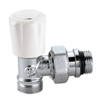 Convertible radiator valve with pre-setting