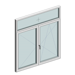 STRUGAL S74RP Window (Two-Leaf+Fixed-Top)
