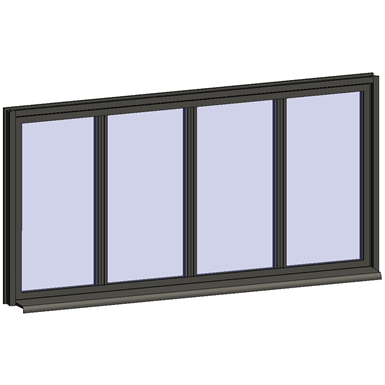 fixed window with 4 horizontal zones