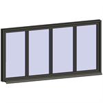 fixed window with 4 horizontal zones