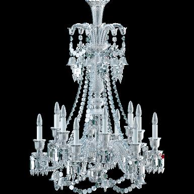 lustre zénith cristal clair 12l long