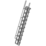 Alternating Tread Ladder With Walk-Thru