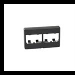 Mini-Com® Furniture Faceplates - 4 Module - Black