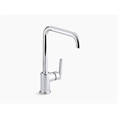 "purist® single-hole kitchen sink faucet with 8"" spout"
