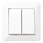 2-circuit switch RS16 flush PureWhite