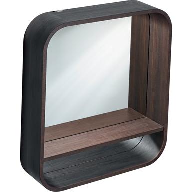 dea mirror 600 gls grn framed shelf&led