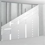 sw50/95; ei90; 35db; austria; shaft wall with single metal stud frame, triple layer cladding