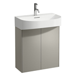 SONAR 580mm Vanity unit, 2 doors, matching washbasin 810342