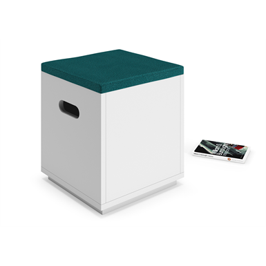 cube – modular seated and storage system - pouf