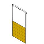 sectional overhead door 601 - vertical lift - 40mm panels