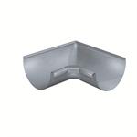 gutter corner half-round (size 333, inside 90°, deep-drawn, prepatina blue-grey)