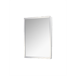 "Accessible Mirror Series Stainless Steel Frame Fixed Tilt Mirror - 18"" x 24"" Surface Mounted"