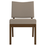 Wieland Link Armless Side Chair, Upholstered Seat and Back