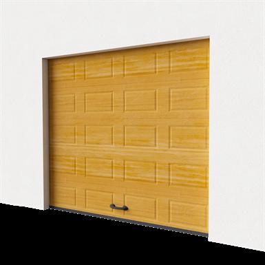 garage door - cassette imitation wood normal lift