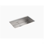 """vault™ 33"""" x 22"""" x 9-5/16"""" top-/under-mount large single-bowl kitchen sink with single faucet hole"""