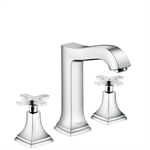 Metropol Classic 3-hole basin mixer 160 with cross handles and pop-up waste set 31307000
