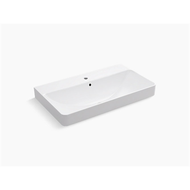 vox® rectangle vessel bathroom sink with single faucet hole