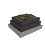 Base KL 2-layer compact roof system for extensive green roof on concrete insulated with cellular glass