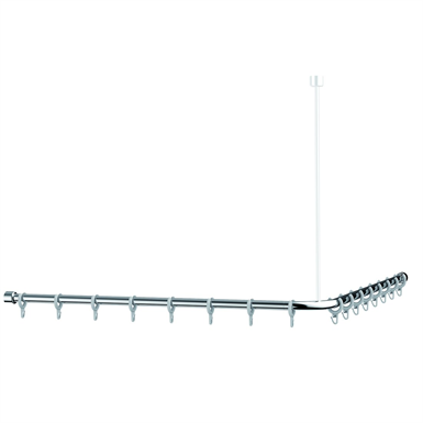 Cavere Chrome Shower curtain rail L = 1400