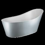 CONO - 落地Cristalplant®浴缸,外部釉面,含下水  - 45923