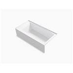 """entity™ 60"""" x 30"""" alcove bath with integral apron, integral flange and right-hand drain"""