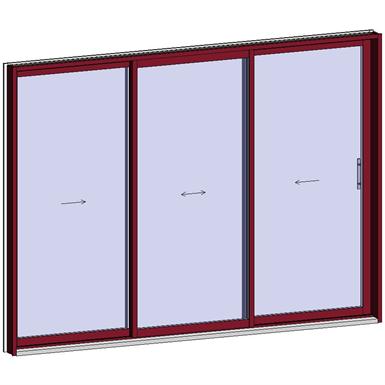 sliding window 2 rails 3 leaves
