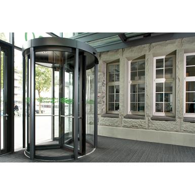Revolving Door, KTV III 4-Wing Night Shield Automatic Curtain-Panel