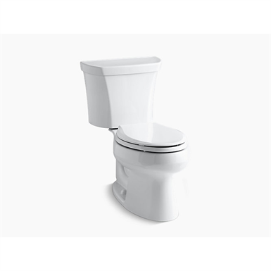 wellworth® two-piece elongated dual-flush toilet with right-hand trip lever, seat not included