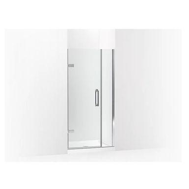 """Components™ Frameless pivot shower door, 71-9/16"""" H x 33-5/8 - 34-3/8"""" W, with 3/8"""" thick Crystal Clear glass"""