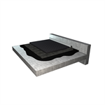waterproofing system for parking roof for light vehicles