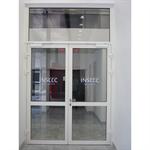 porte vitrée coupe-feu aluminium - 2 vantaux